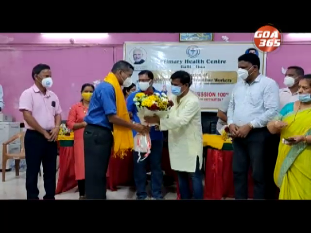 covid worriers felicitated by Health minister at Balli