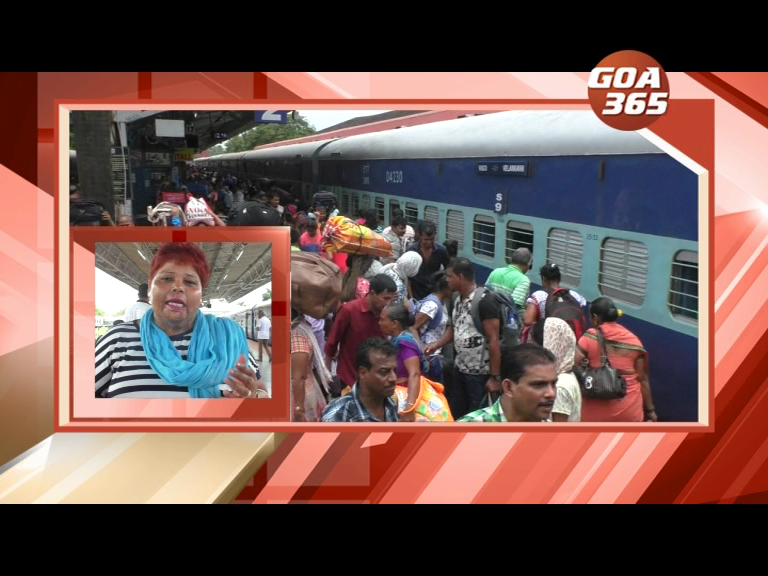 3 trains leave for Valankannii with thousands of pilgrims from Goa