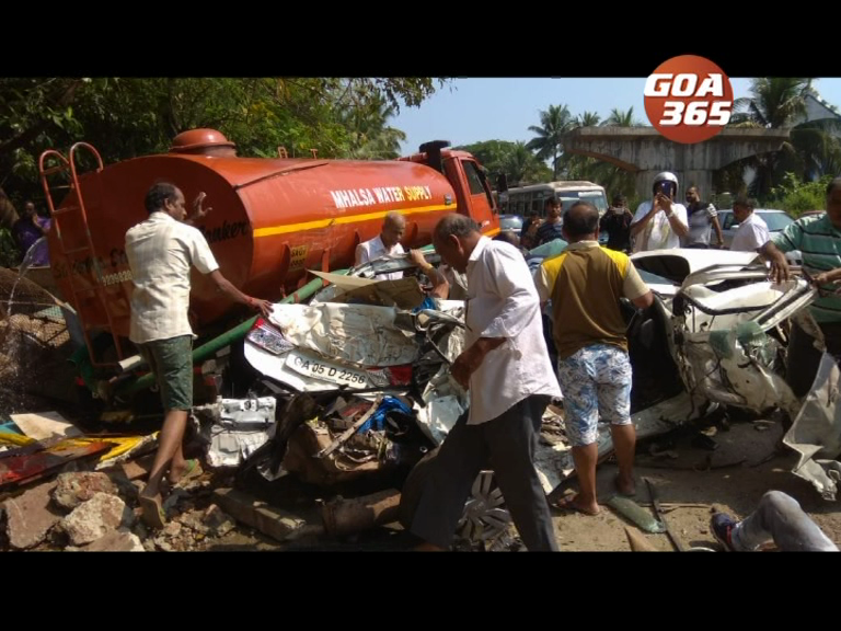 7 injured, 2 critical after tanker hits eight vehicles at Chimbel junction