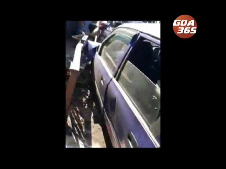Car ramps into restaurant in Calangute