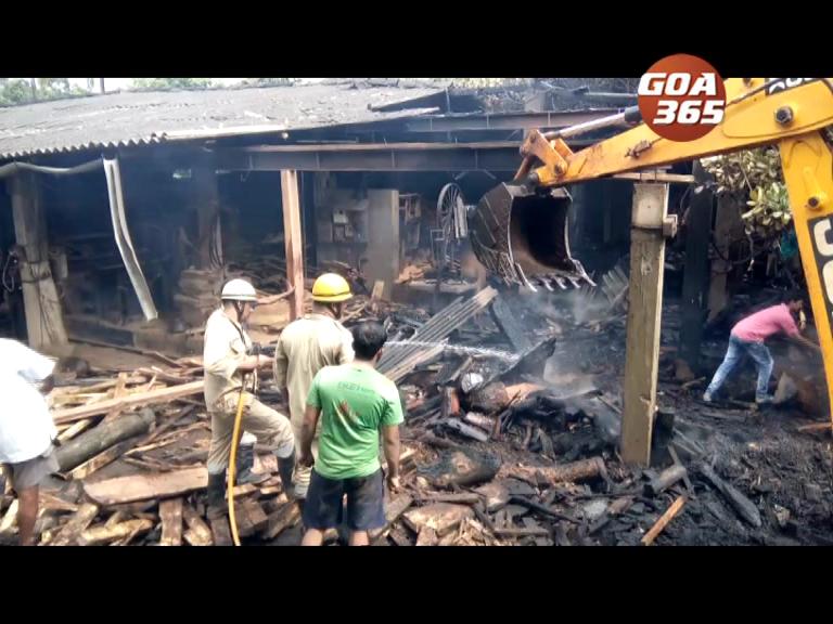 Fire guts Assagao sawmill
