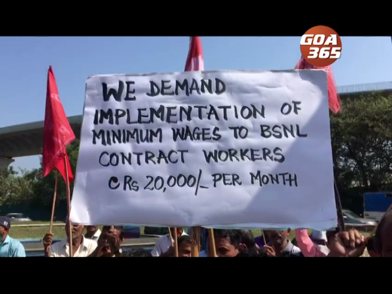 BSNL workers not paid salary for 4 months; hold protest