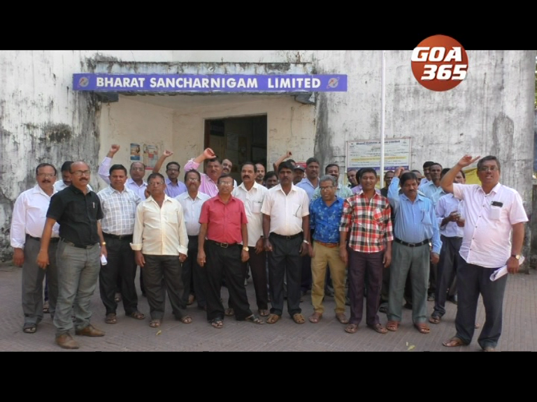 Nationwide BSNL employees out on strike