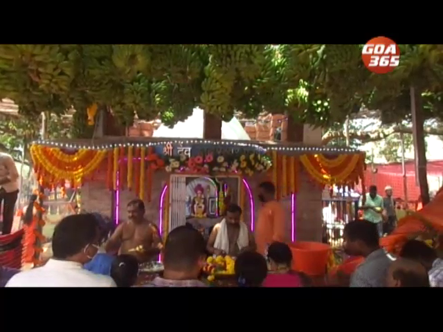 Babreshwar jatra celebrated at Calangute beach