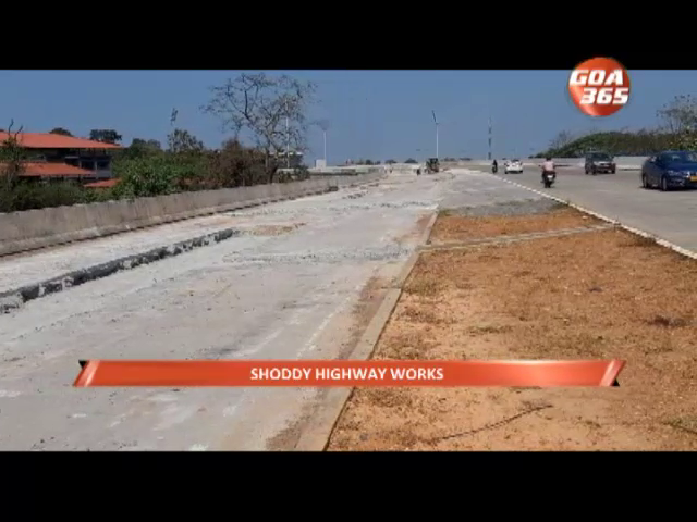 Patch up work in progress after new Bambolim flyover cracks