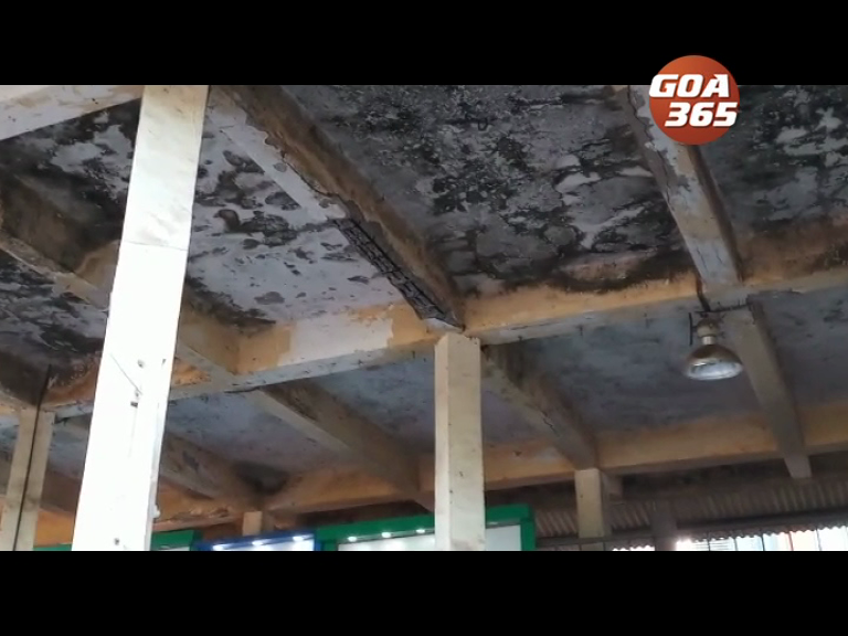 Bicholim KTC bus stand slab collapses, lady seriously injured