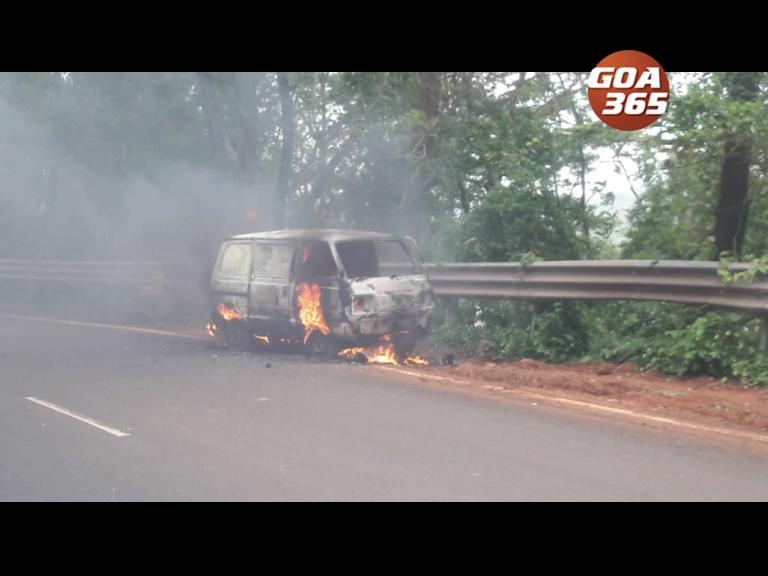 Burning car on Zuari aggravates Cortalim woes