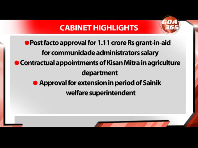 Cabinet held, clears covid relief