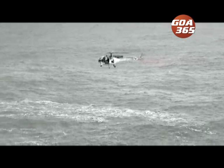 Coast guard rescues armyman off Cabo de Rama