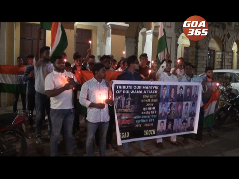 Candlelight  processsions to protest against  terrorist attack in Kashmir