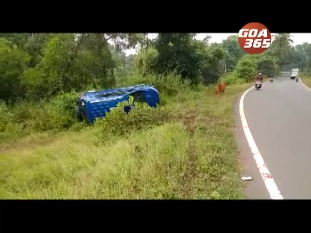 Cattle effect: Car turns turtle, 3 injured