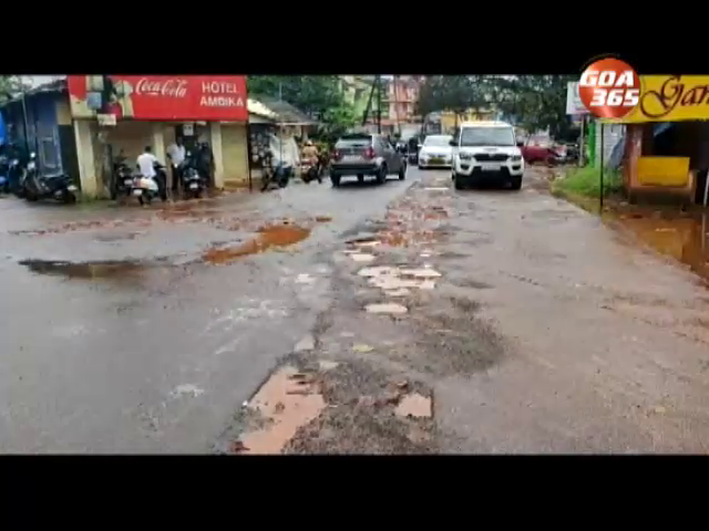 Colva road in mess after sewerage work