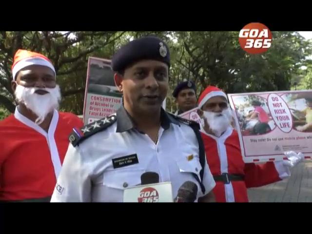 Drive safe, follow rules, say police santa's
