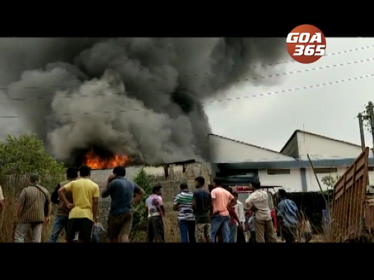Fibre glass unit catches fire at Nesai