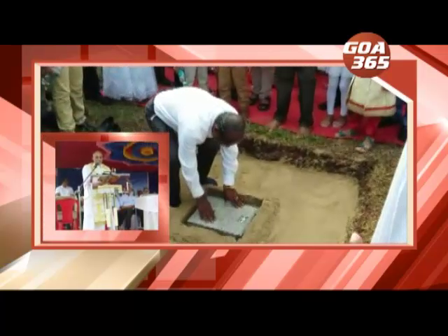 Foundation stone laid for new Church in Thivim