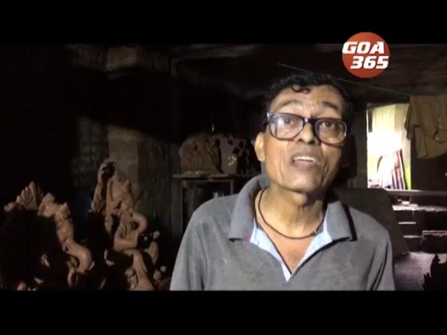 Traditional Ganapati idol makers claims shortage of clay