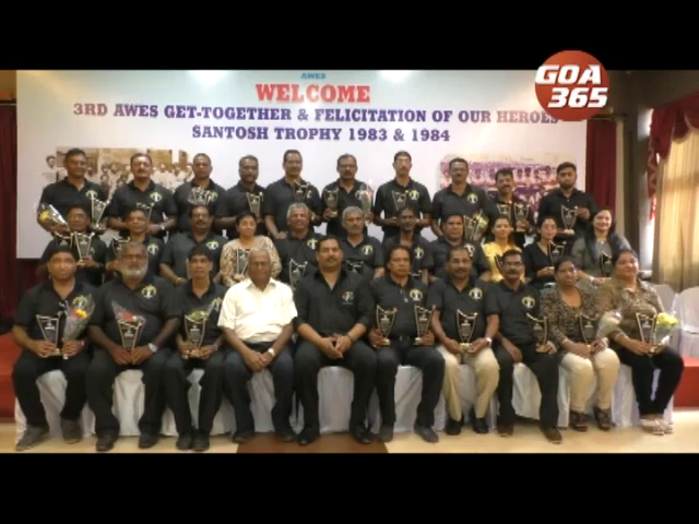 Goa Santosh Trophy 1983-84 heroes felicitated