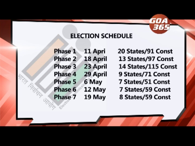 Goa to go for LS & By-polls on 23 April, LS poll in 7 phases