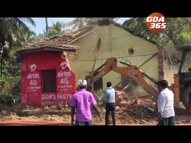 Houses demolished at Guirim for NH17 widening: owners demand compensation