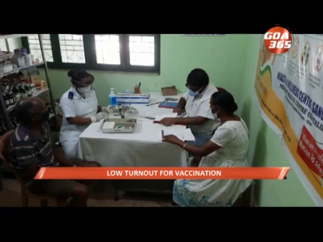 Low turnout for vaccination disappoints Cortalim health centre