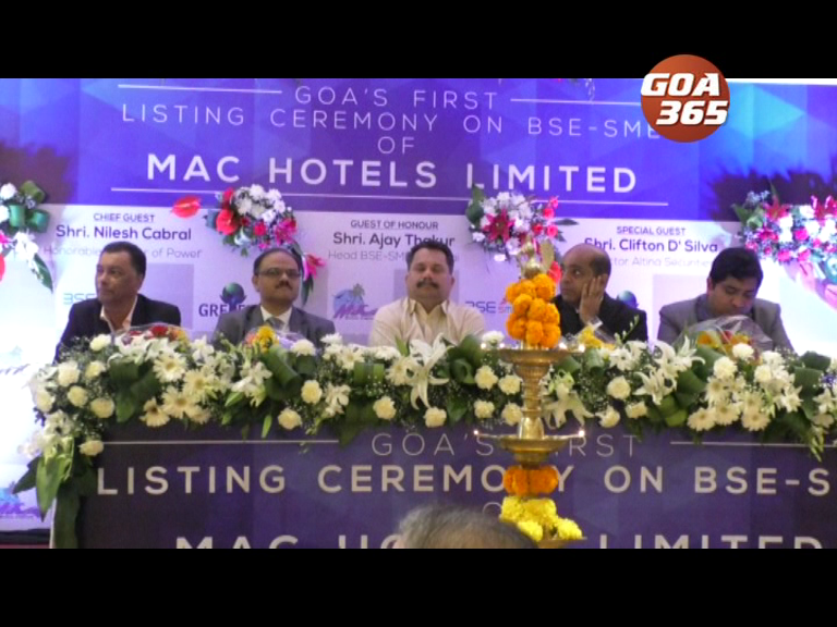 Mac Hotels becomes first Goan company to be listed on BSE