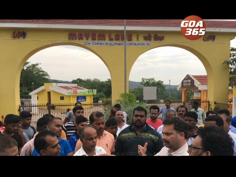 Mayem lake shopkeepers stop inauguration of phase 1 beautification