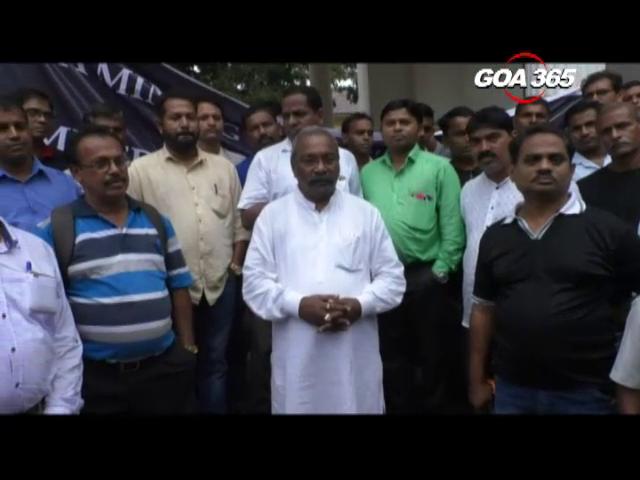 Mining workers storm Panaji, vow to defeat BJP