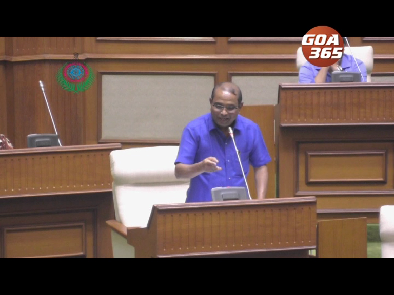 Why did Minister Palyekar sing in the Assembly?