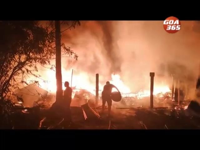 Shack godown in Palolem totally burnt, loss estimated at 30 lakh rupees