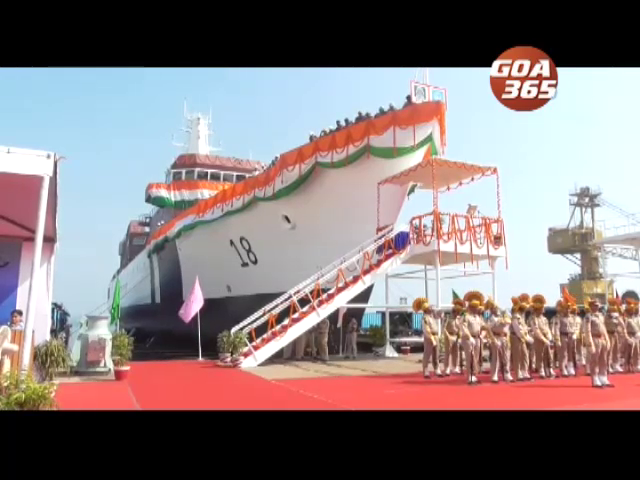 Defence minister launches offshore patrol vessel