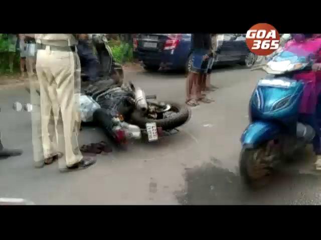 Accident in Pernem: Bike rider bangs into a pedestrian
