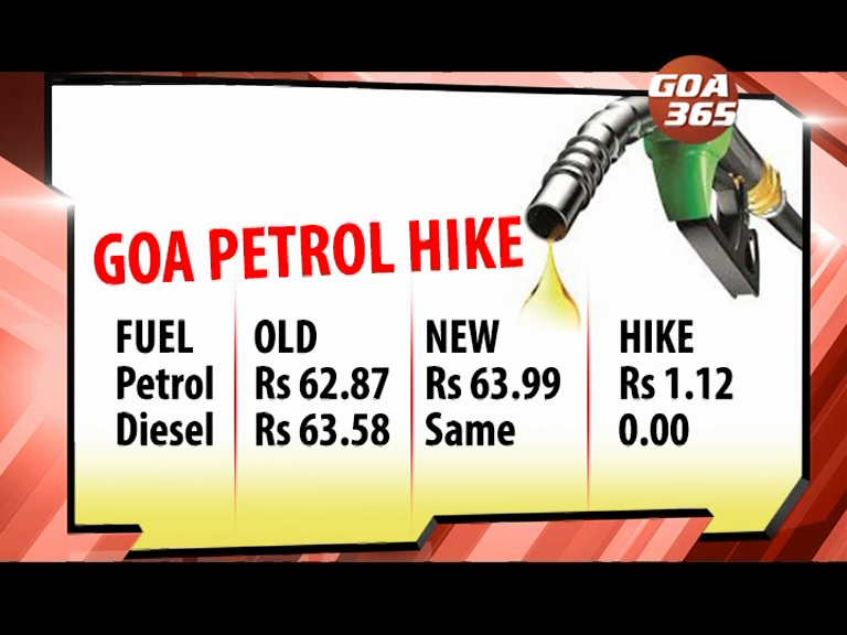 Petrol in Goa rises by 1.12 rupees
