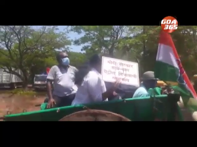 Protests sparks across Goa over rising fuel prices