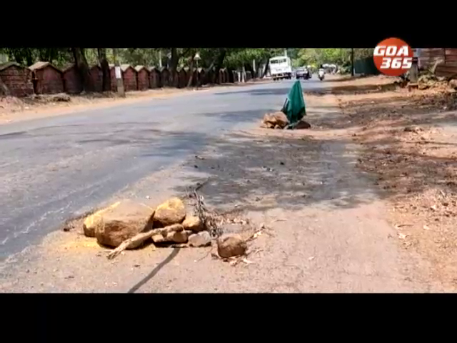 Ravanfond to Quepem road is a flag marked death trap