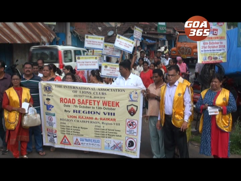 Road safety week awareness held at Cuncolim
