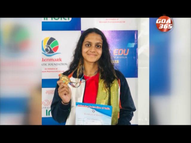 Goa's Sanajana bags Gold in swimming