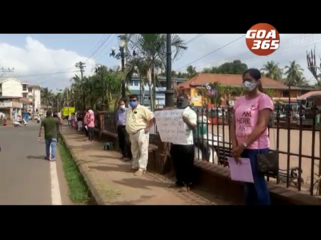Seafarers hit streets in protest at Quepem, Margao