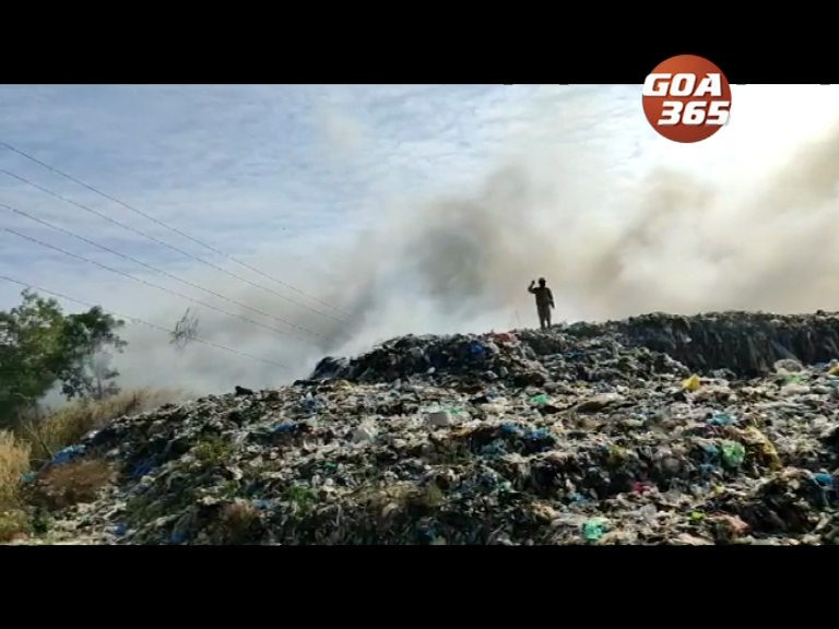 Sonsoddo garbage dump catches fire once again