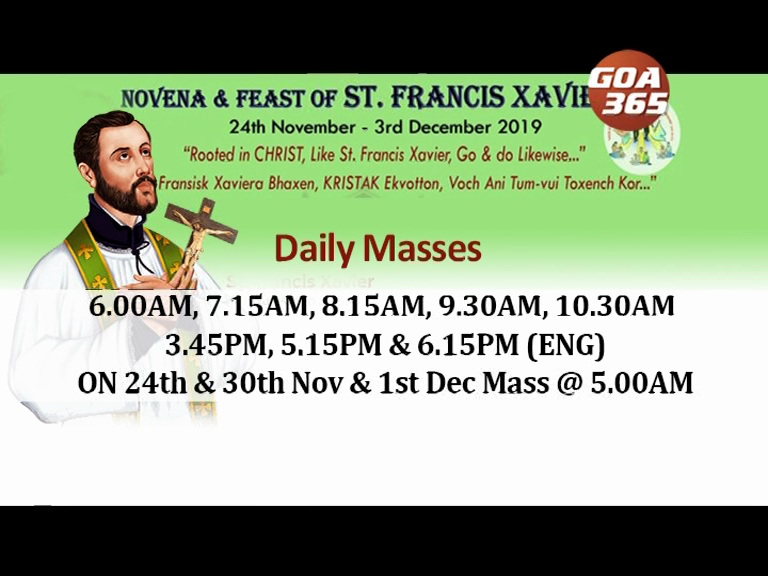 St. Francis Xavier novenas begins on Sun