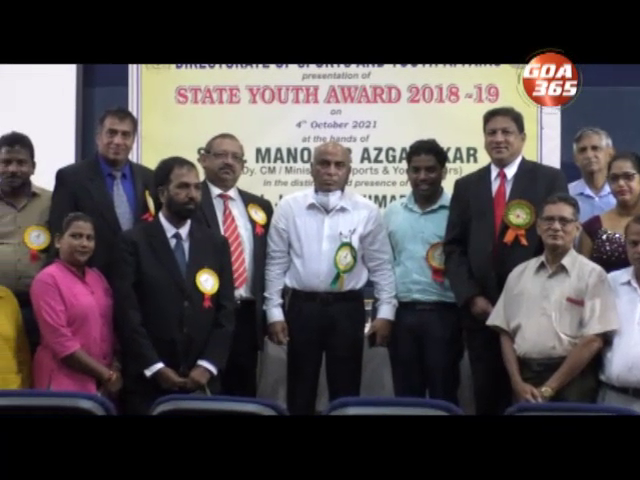 State Youth Award for the year 2018-19 presented to Utorda club