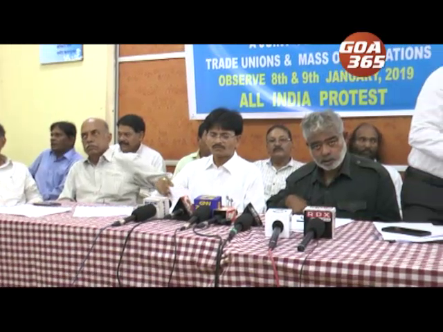 Strike by Goa Convention of Workers on 8 and 9 jan