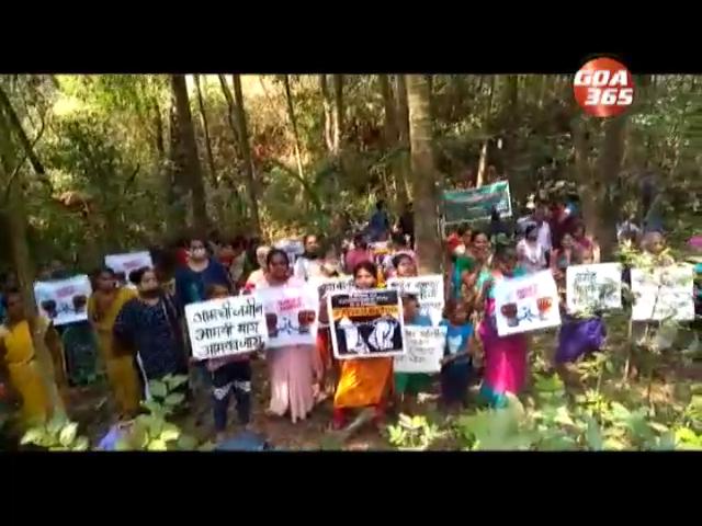 Tulaskarwadi locals protest against acquisition of more land for Mopa road