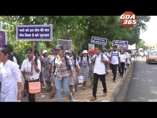 Rally organised to mark international yoga day