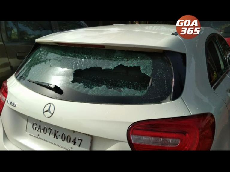 Miscreants vandalize St Cruz ZP car, locals cry - goondagiri