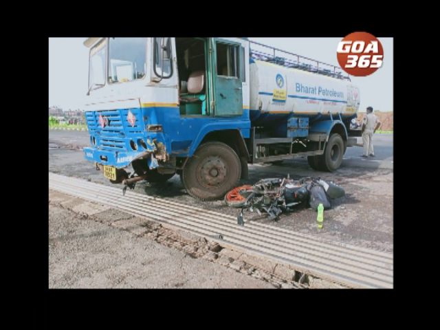 Youth perishes in a bike-oil tanker collision in Sancoale