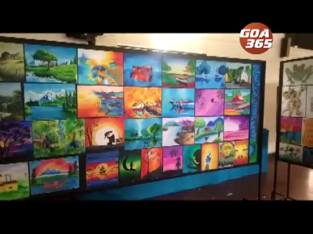 Ponda's Almeida school students exhibit their art