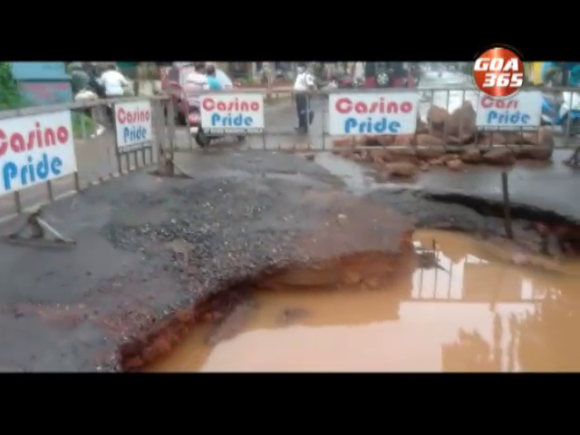 Not earthquake, just shoddy work results in sinking Baga road