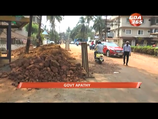 Pending work on road give commuters headaches