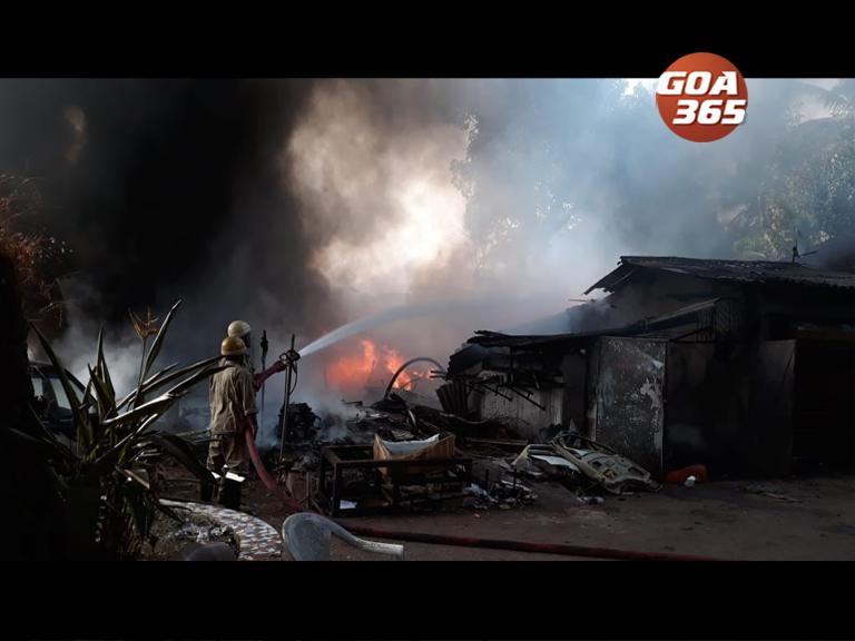 Fire guts Chinchinim scrapyard, service centre