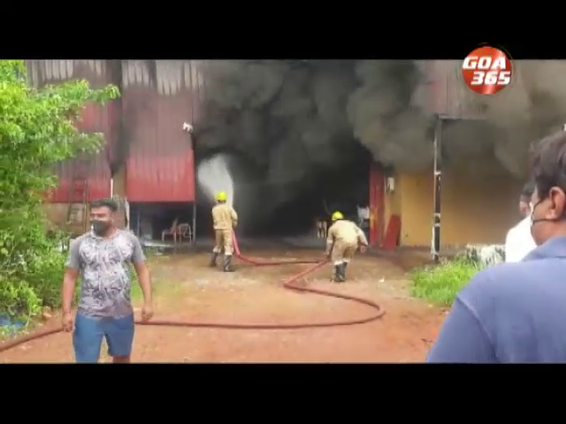 Godown gutted in fire at Varca
